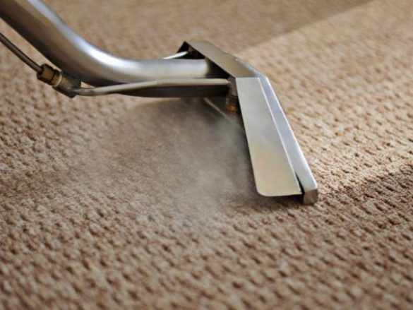 Steam cleaning carpets in Warrington